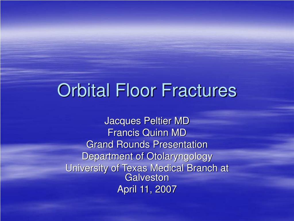 orbital floor fractures l.