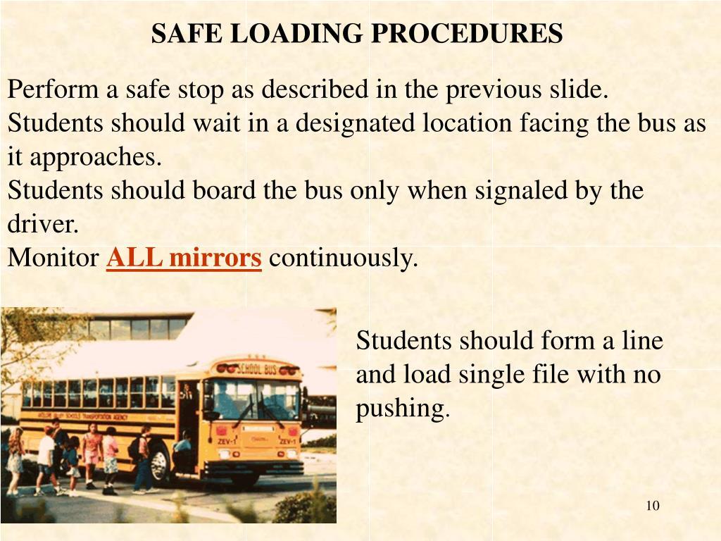 SAFE LOADING PROCEDURES