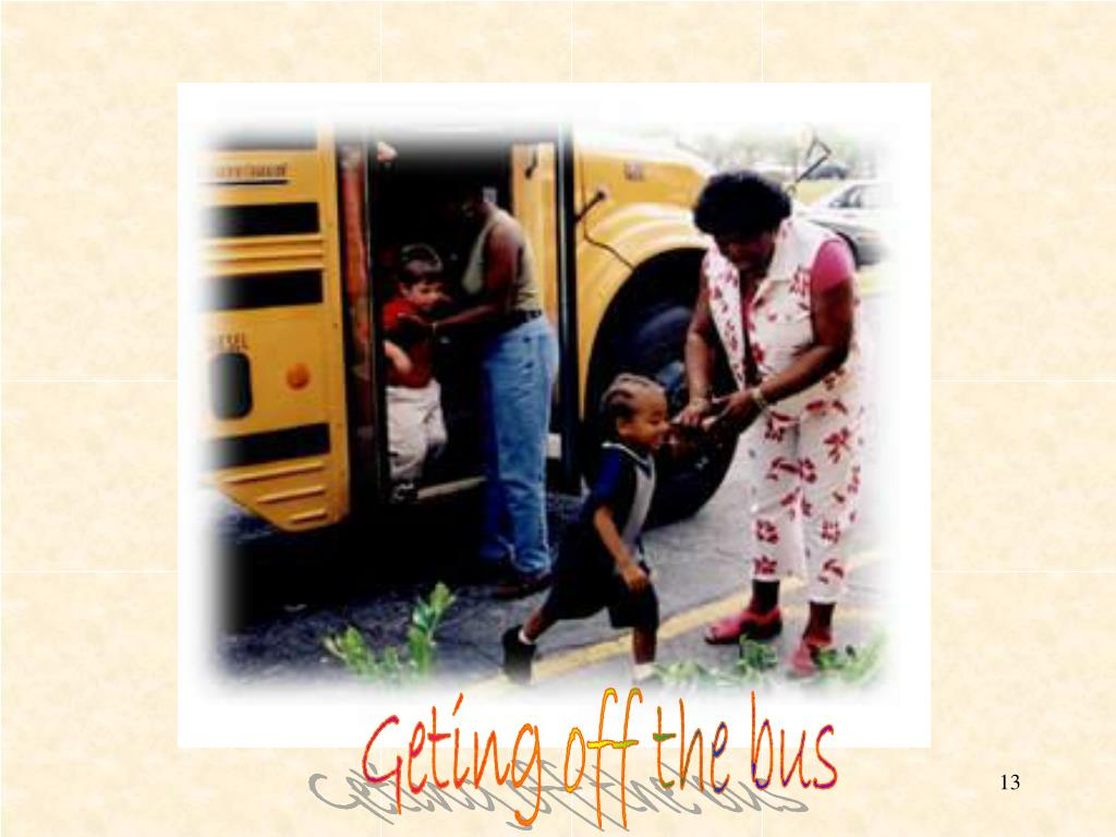 Geting off the bus
