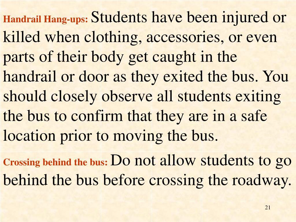 Handrail Hang-ups:
