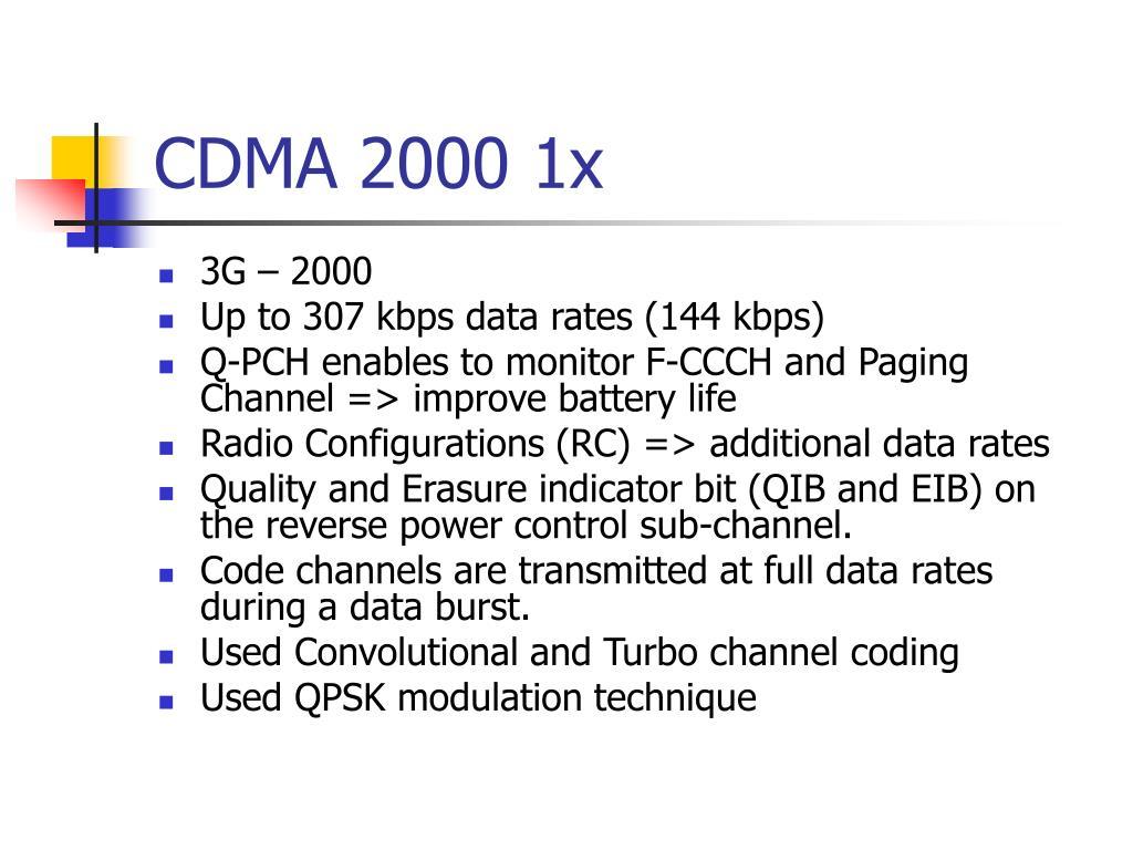 CDMA 2000 1x