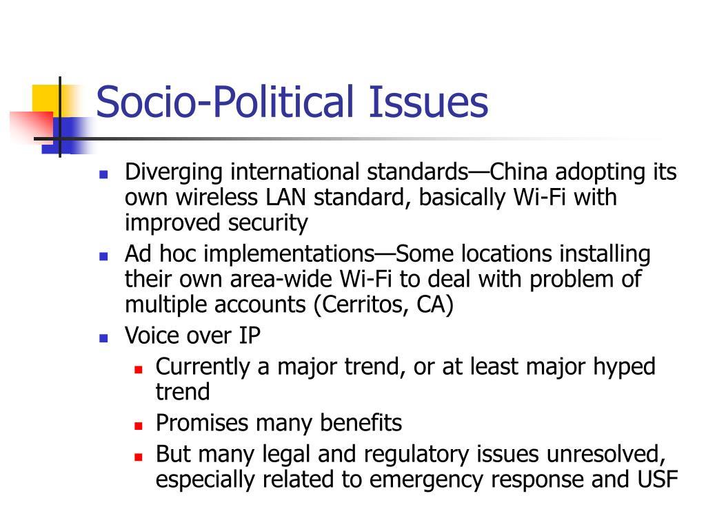 Socio-Political Issues