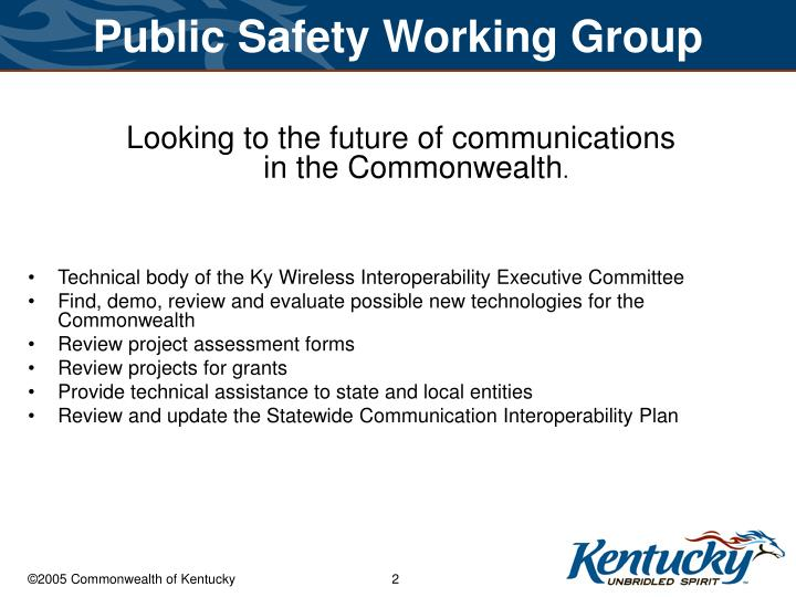 Public safety working group2