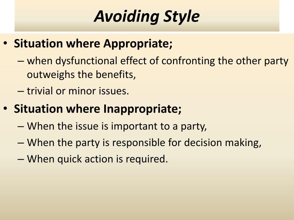 Avoiding Style