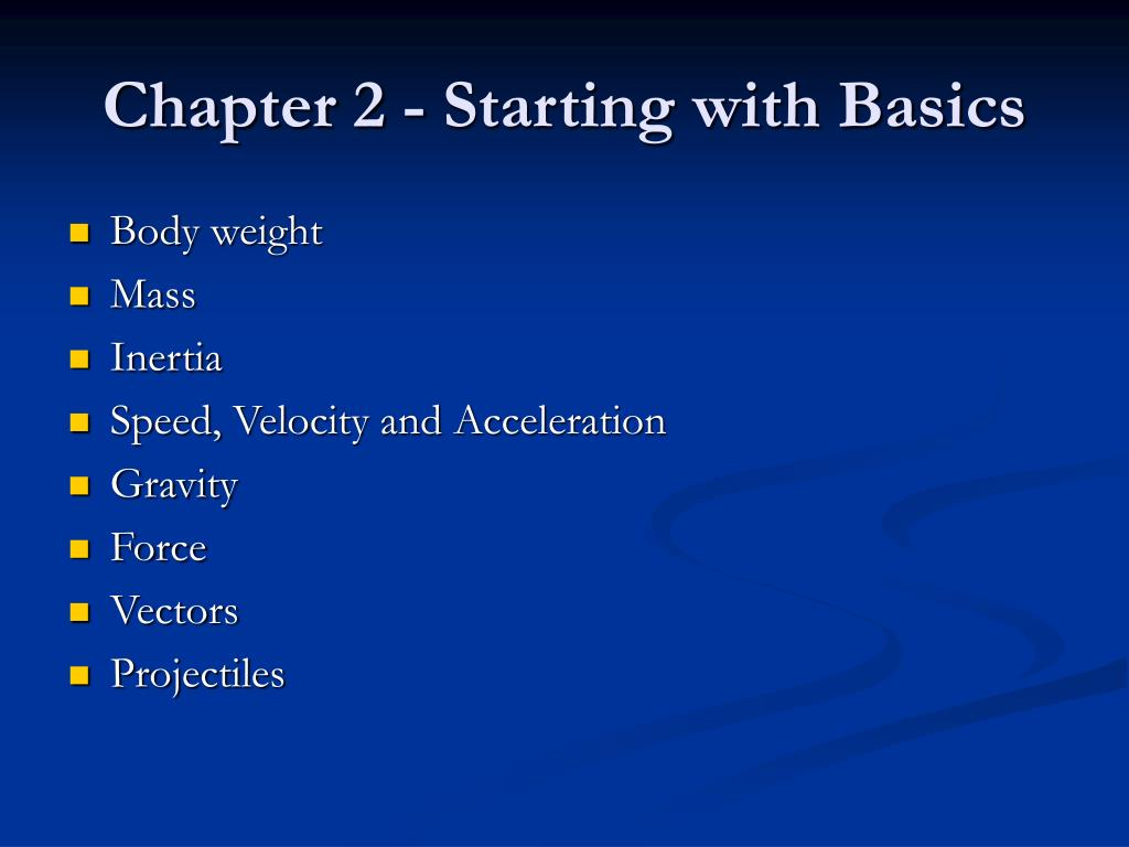 Chapter 2 - Starting with Basics