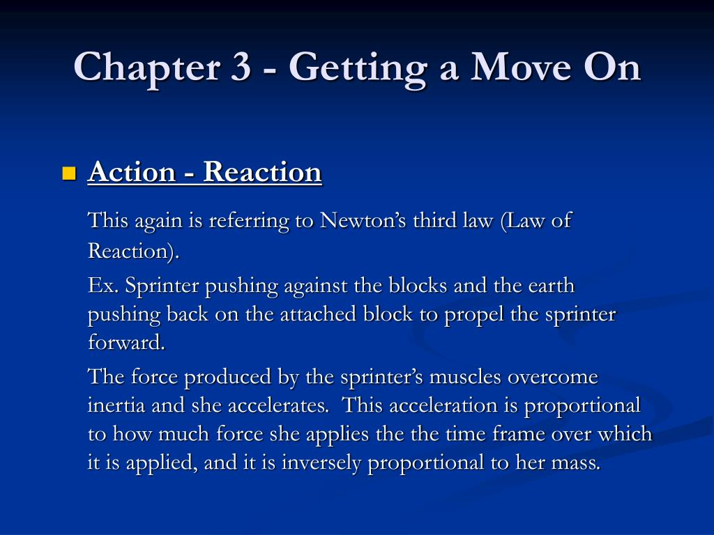 Chapter 3 - Getting a Move On