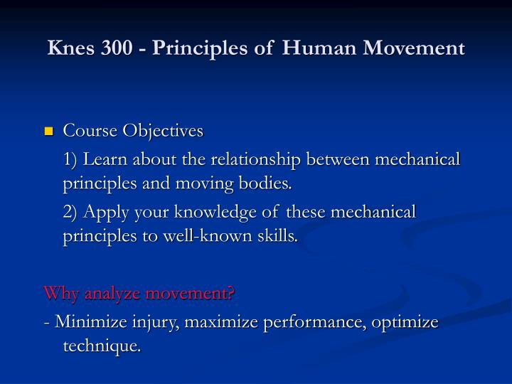 Knes 300 principles of human movement