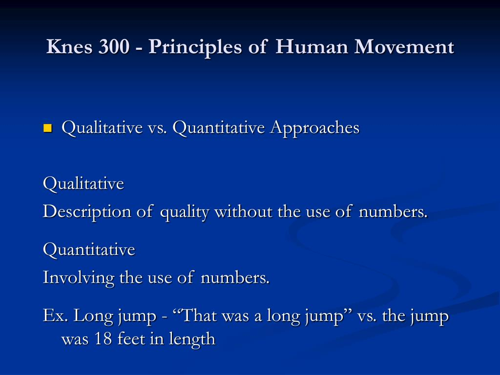 Knes 300 - Principles of Human Movement