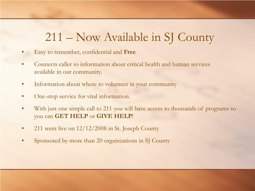 211 – Now Available in SJ County