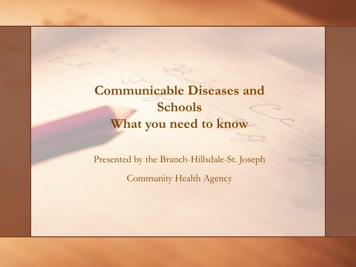 Communicable diseases and schools what you need to know