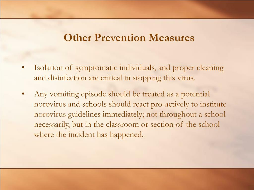 Other Prevention Measures