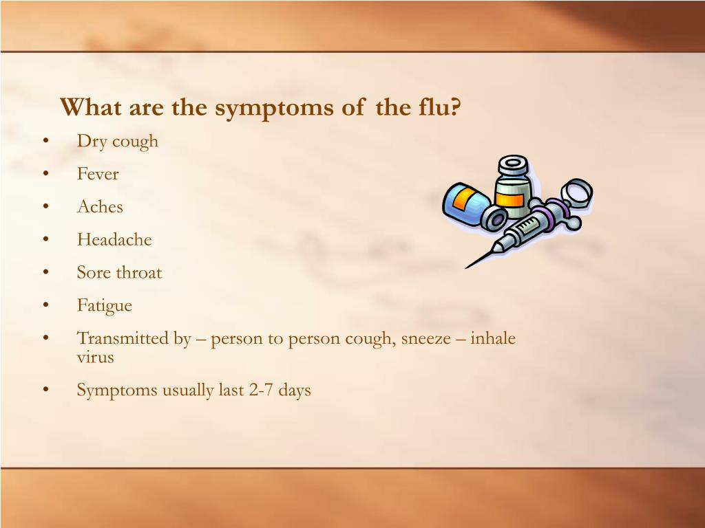 What are the symptoms of the flu?