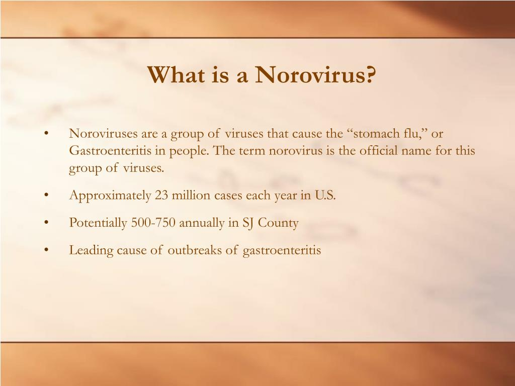What is a Norovirus?