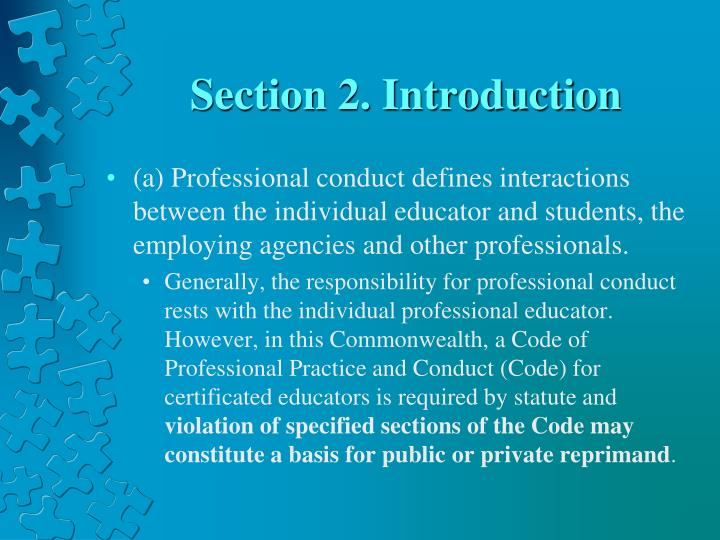 Section 2 introduction