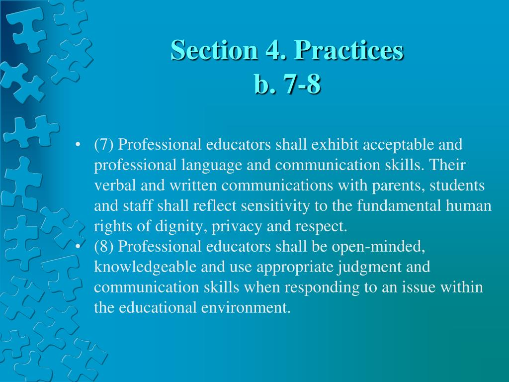 Section 4. Practices