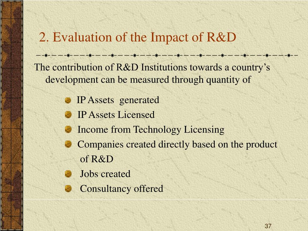 2. Evaluation of the Impact of R&D