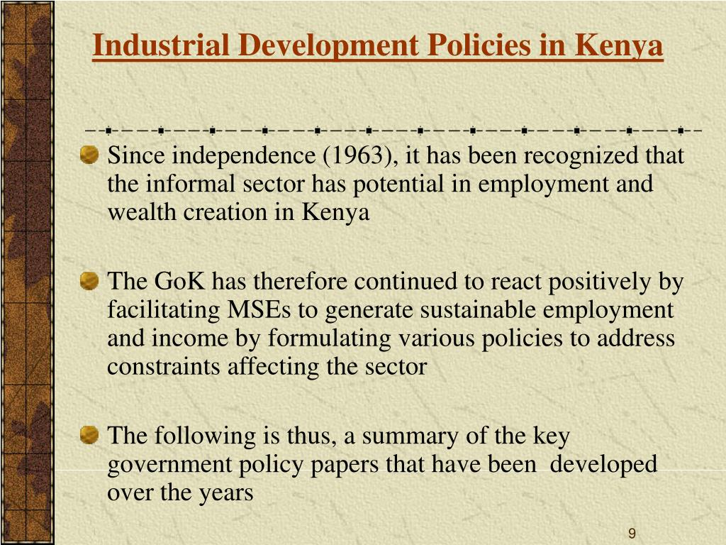 Industrial Development Policies in Kenya