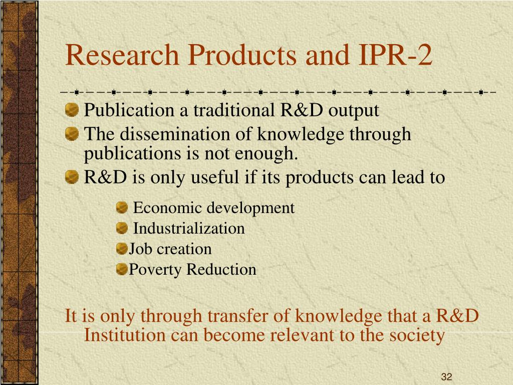 Research Products and IPR-2