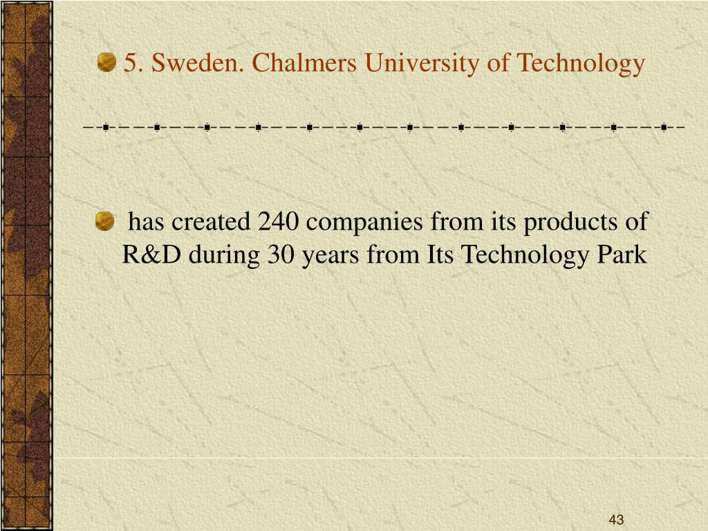 5. Sweden. Chalmers University of Technology