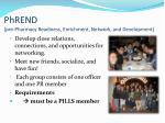 phrend pre pharmacy readiness enrichment network and development
