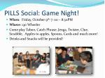pills social game night