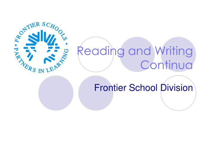 reading and writing continua n.