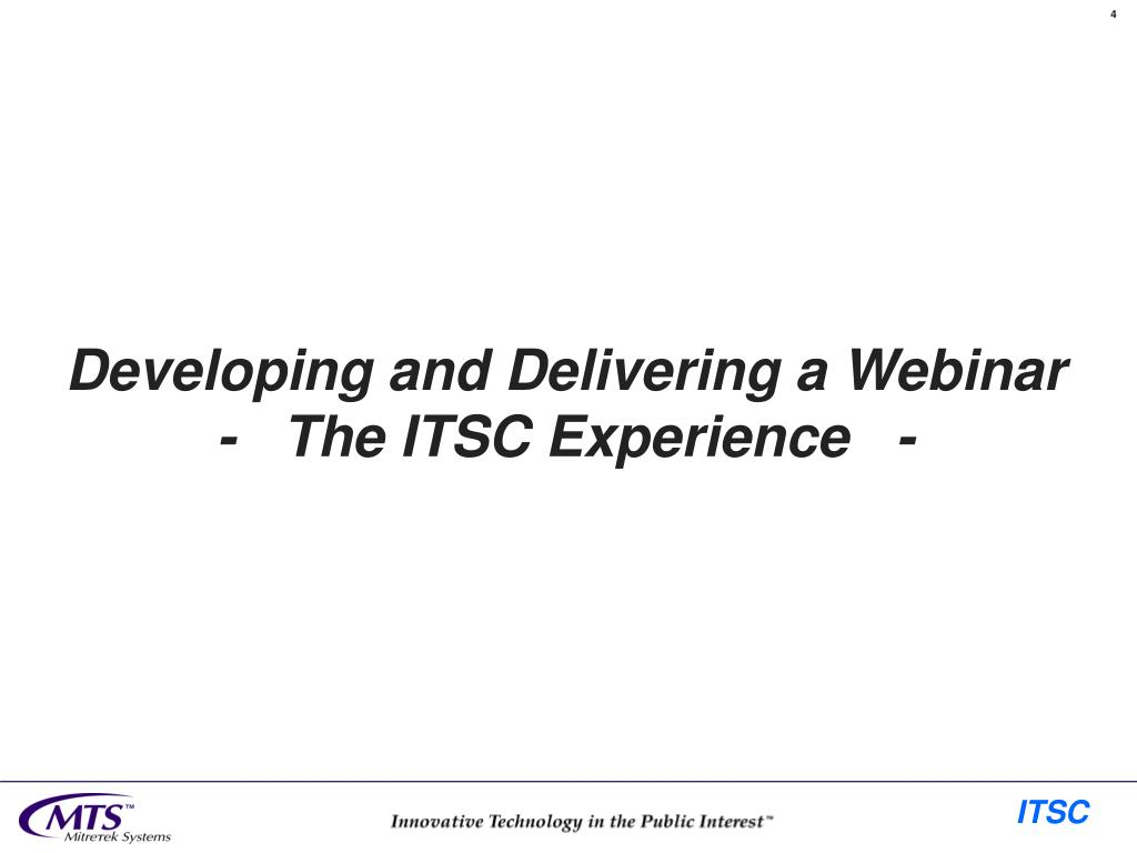 Developing and Delivering a Webinar