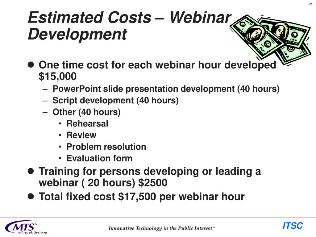 Estimated Costs – Webinar Development
