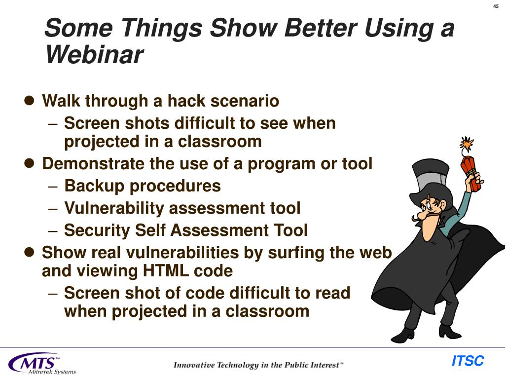 Some Things Show Better Using a Webinar