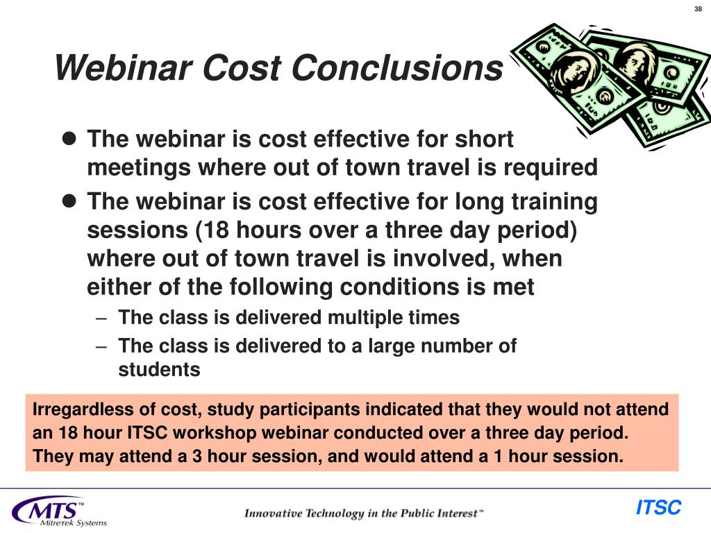 Webinar Cost Conclusions