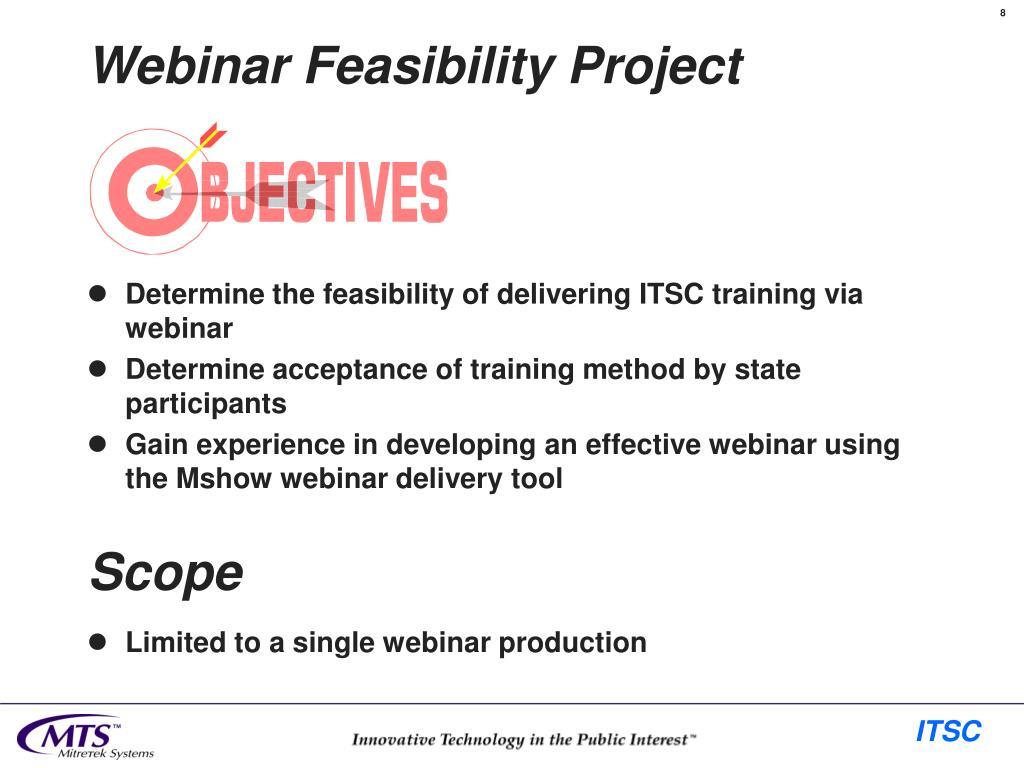 Webinar Feasibility Project