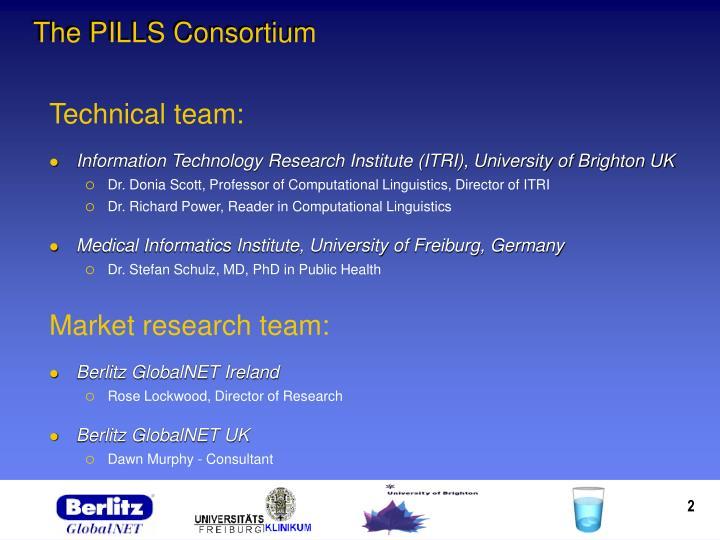 The pills consortium