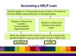 accessing a help loan