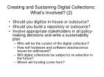 creating and sustaining digital collections what s involved 2