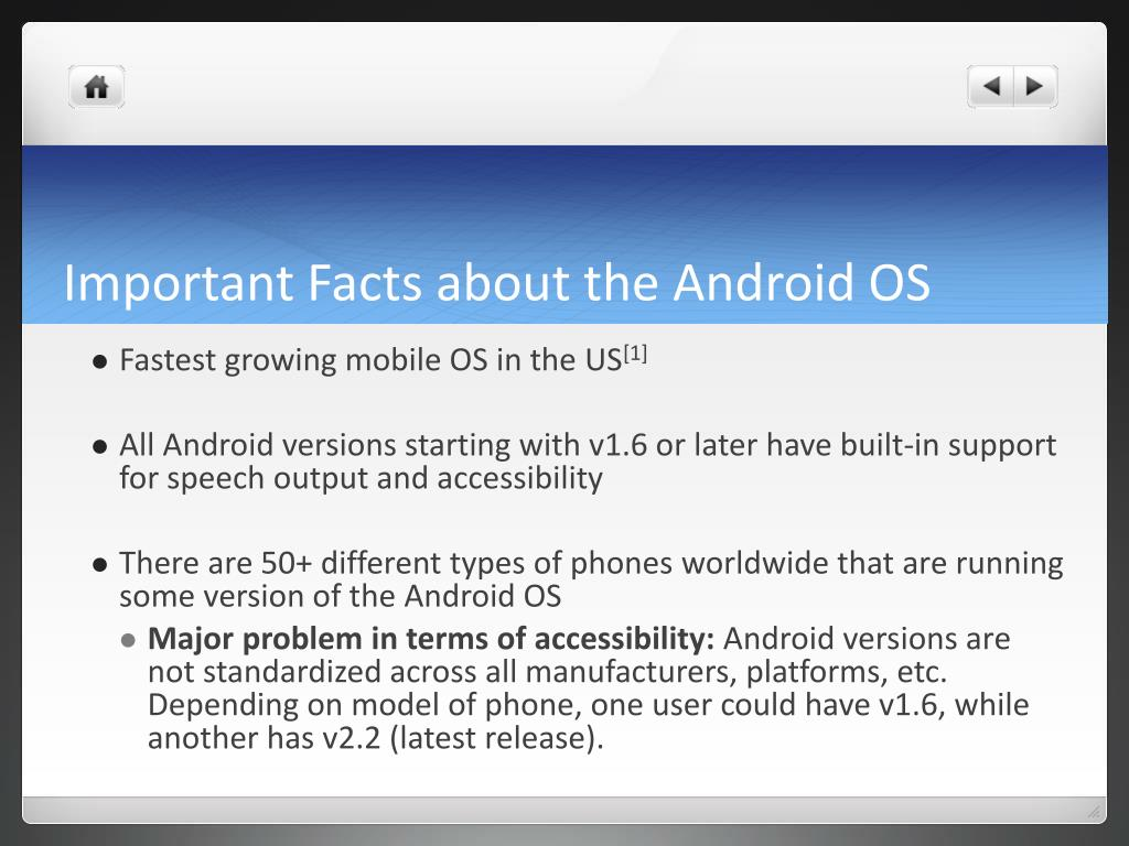 Important Facts about the Android OS