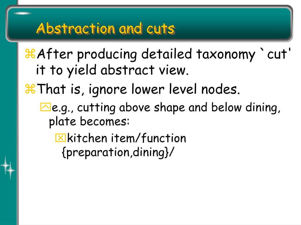 Abstraction and cuts