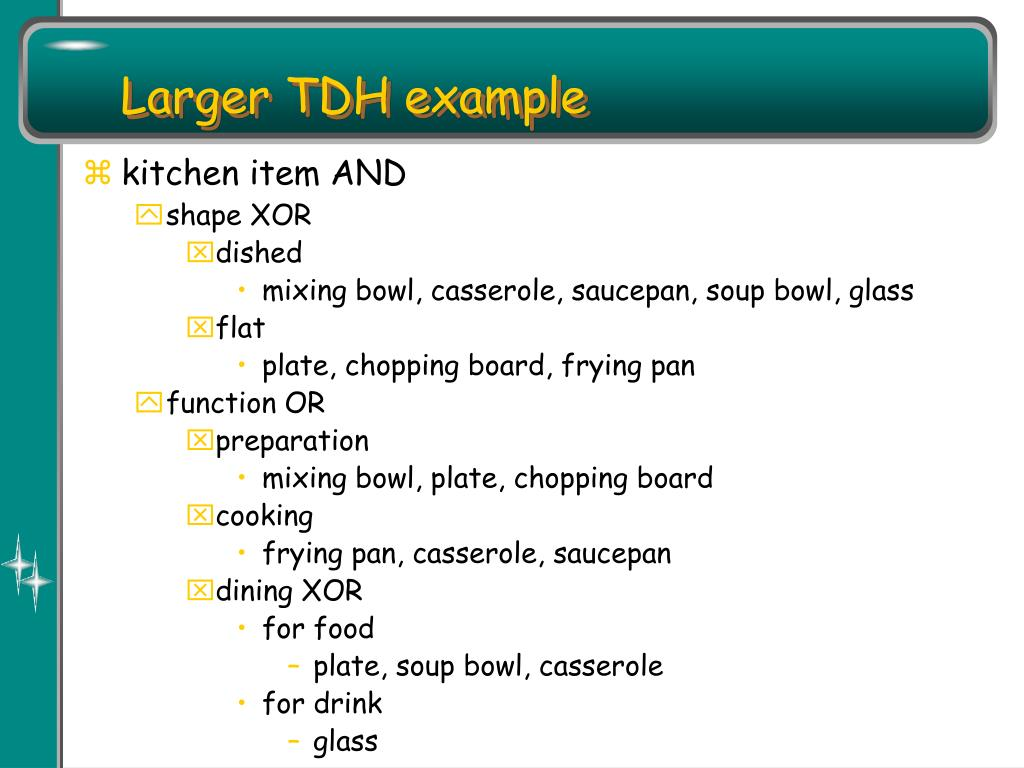 Larger TDH example