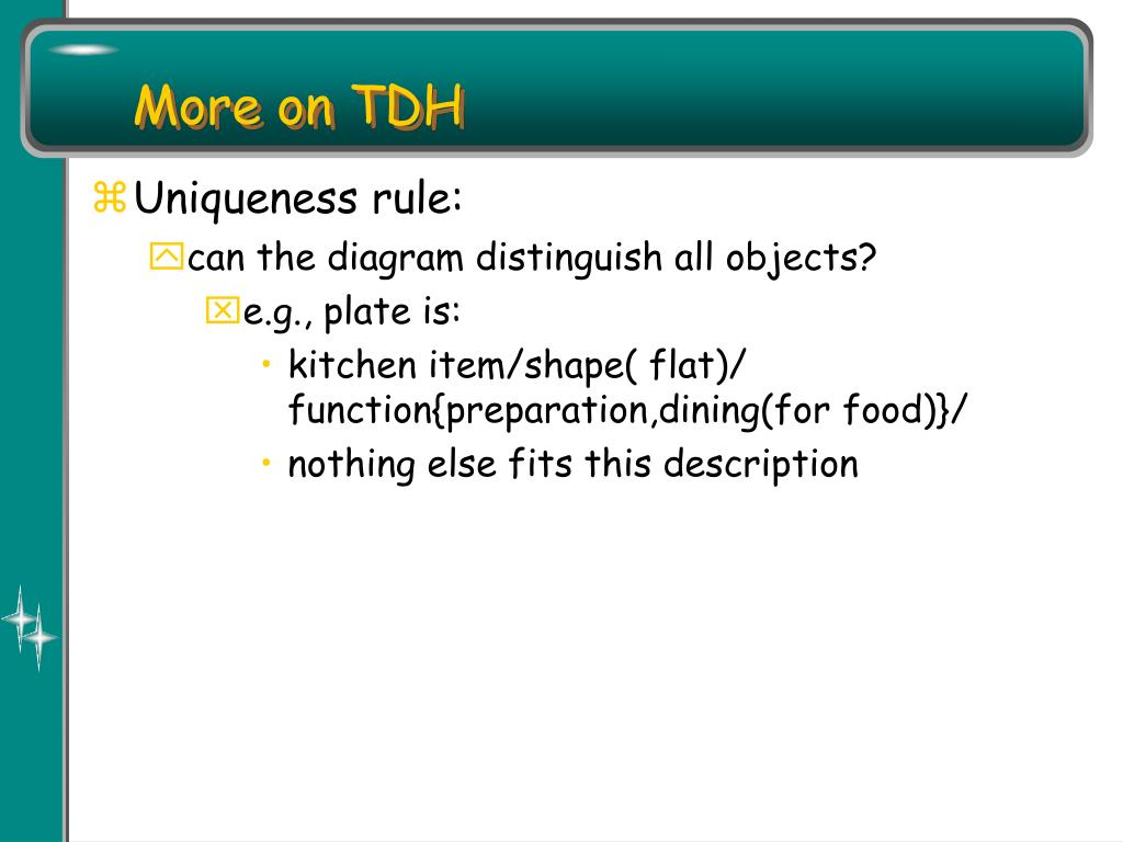 More on TDH