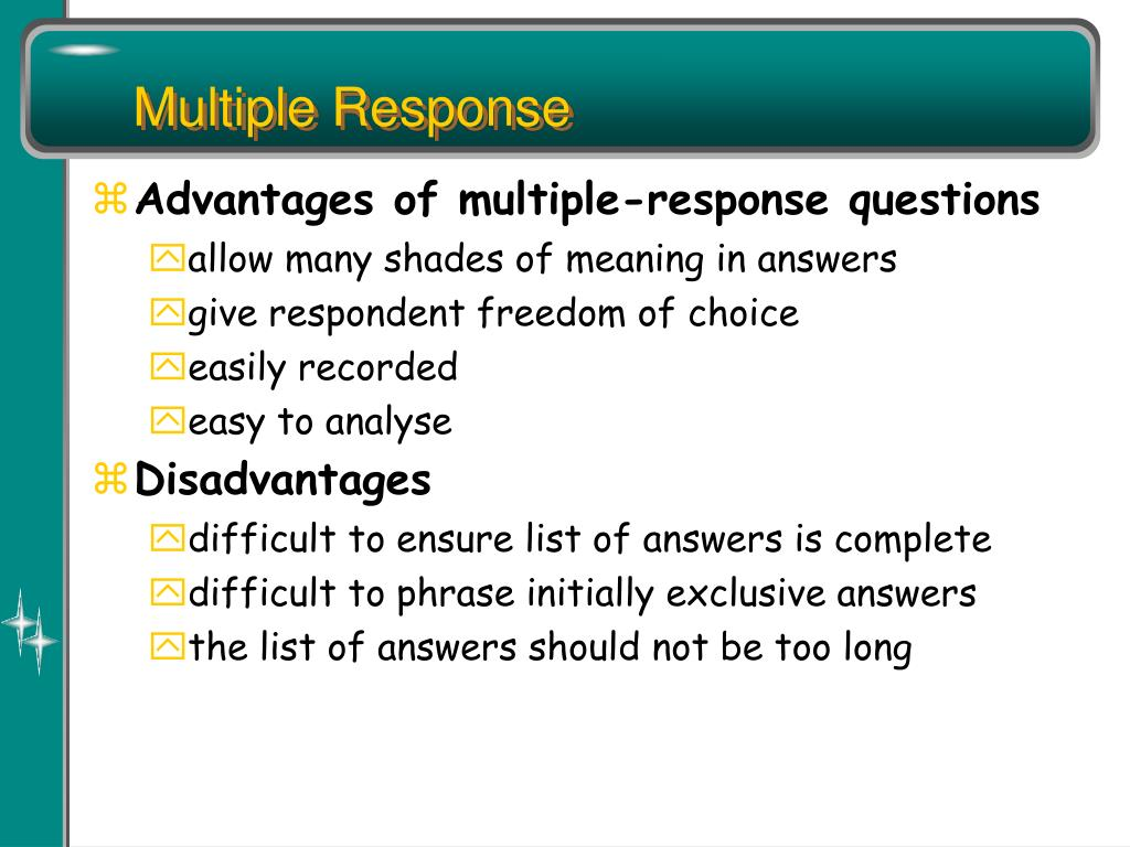 Multiple Response