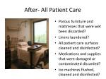 after all patient care
