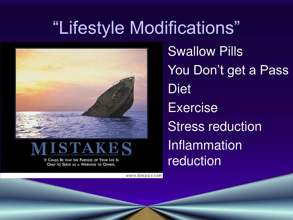 """Lifestyle Modifications"""