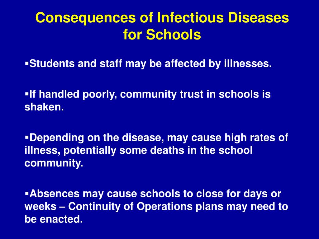 Consequences of Infectious Diseases for Schools