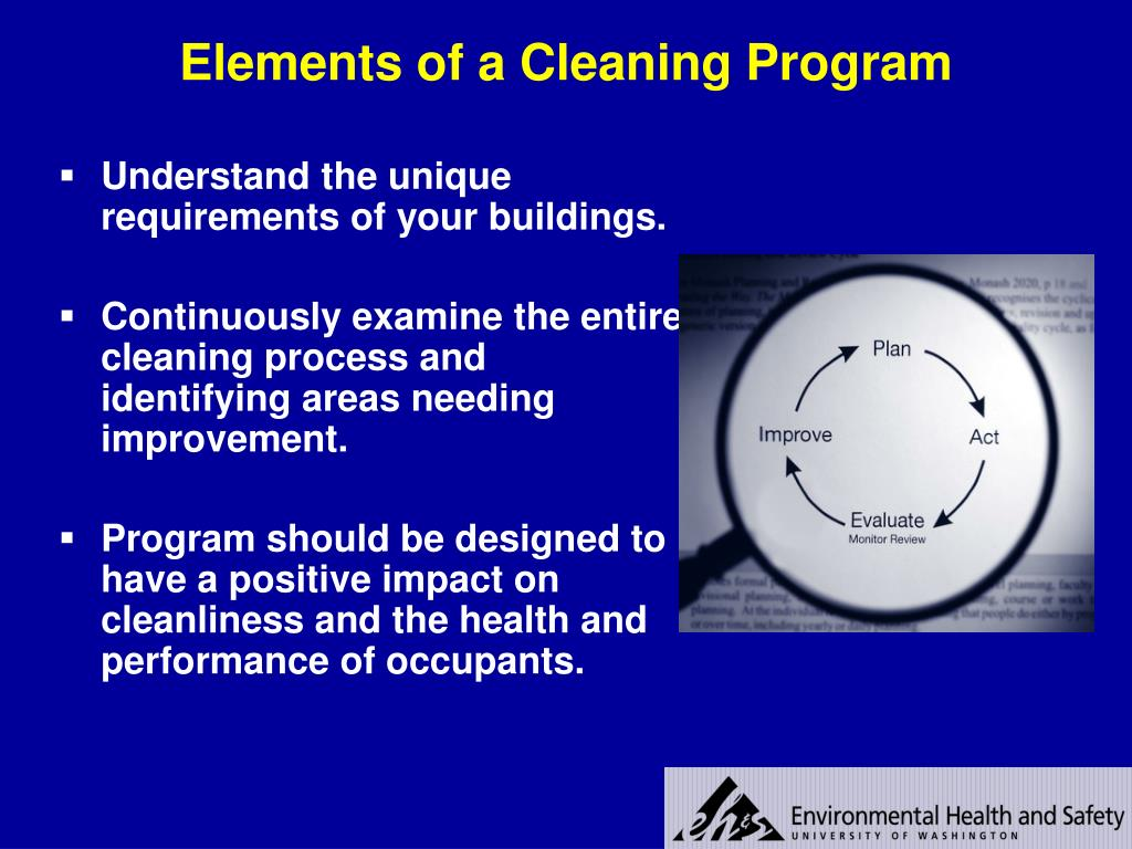 Elements of a Cleaning Program