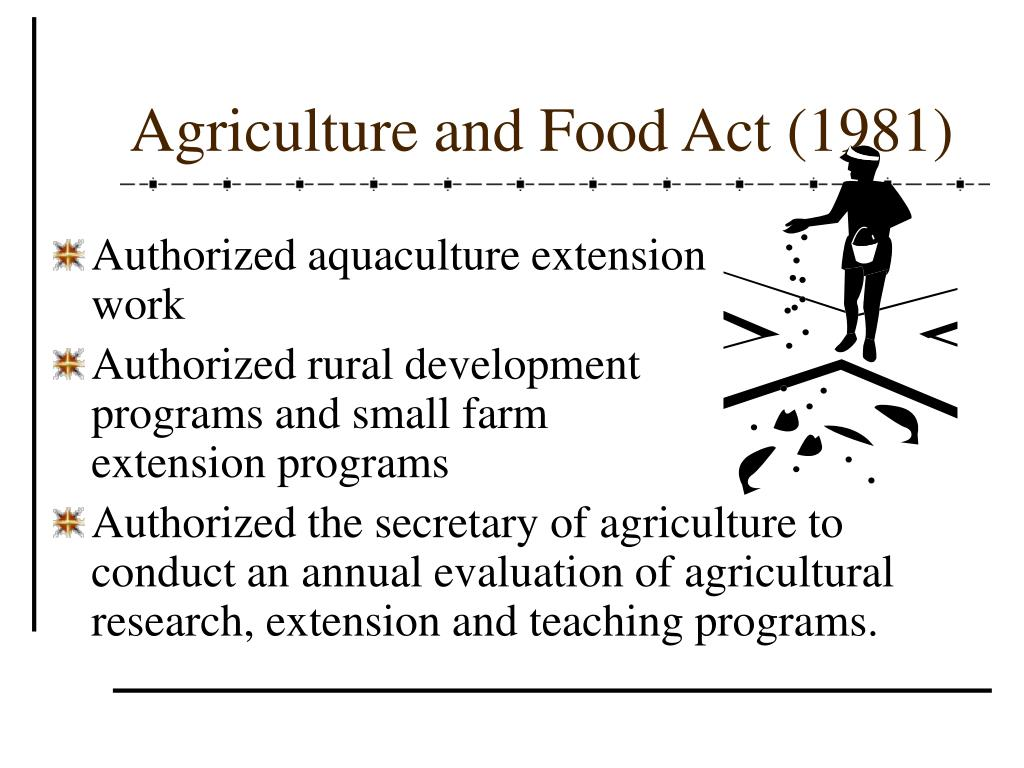 Agriculture and Food Act (1981)