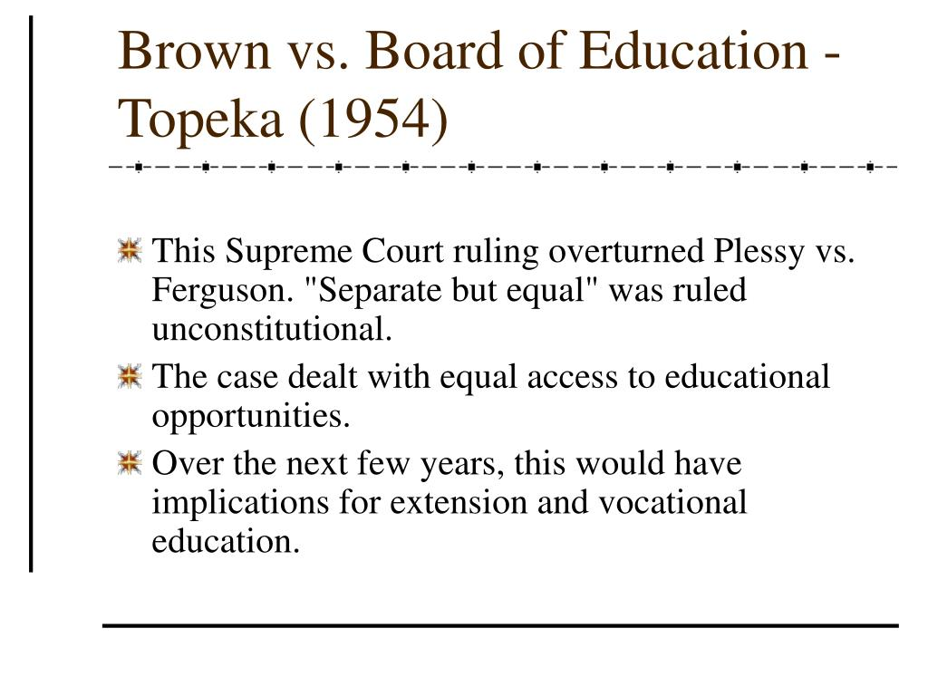 Brown vs. Board of Education - Topeka (1954)