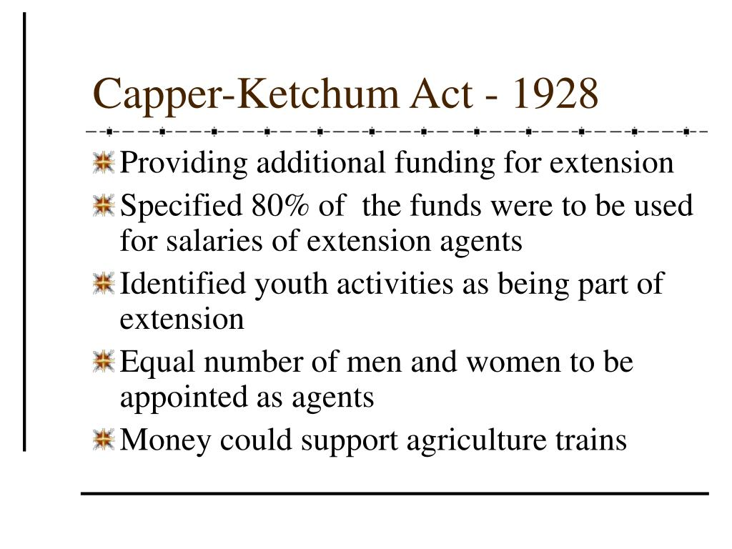 Capper-Ketchum Act - 1928