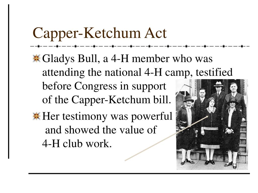 Capper-Ketchum Act