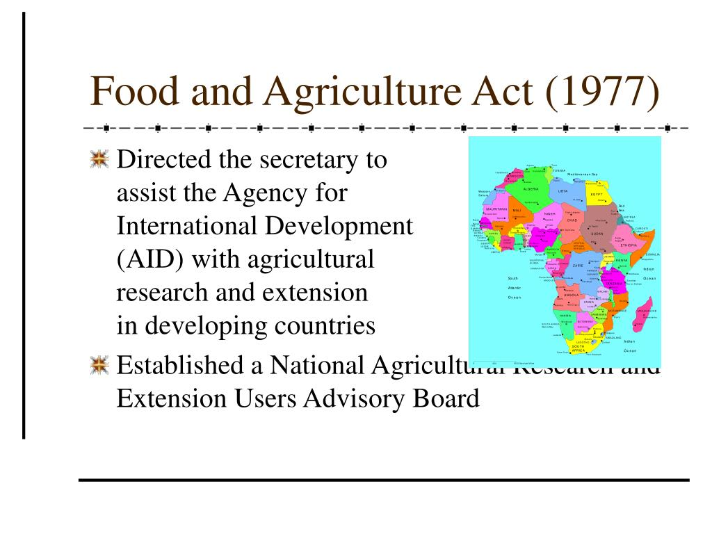 Food and Agriculture Act (1977)