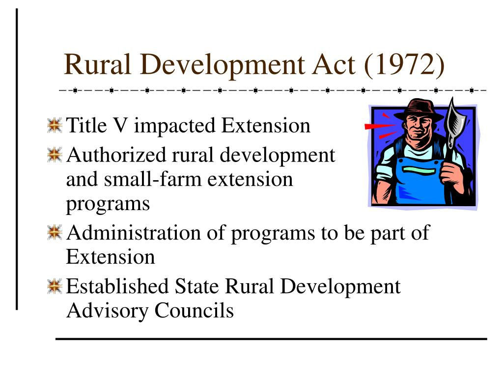 Rural Development Act (1972)