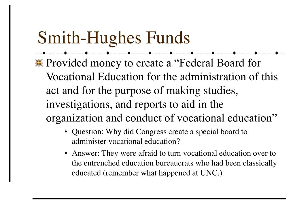 Smith-Hughes Funds
